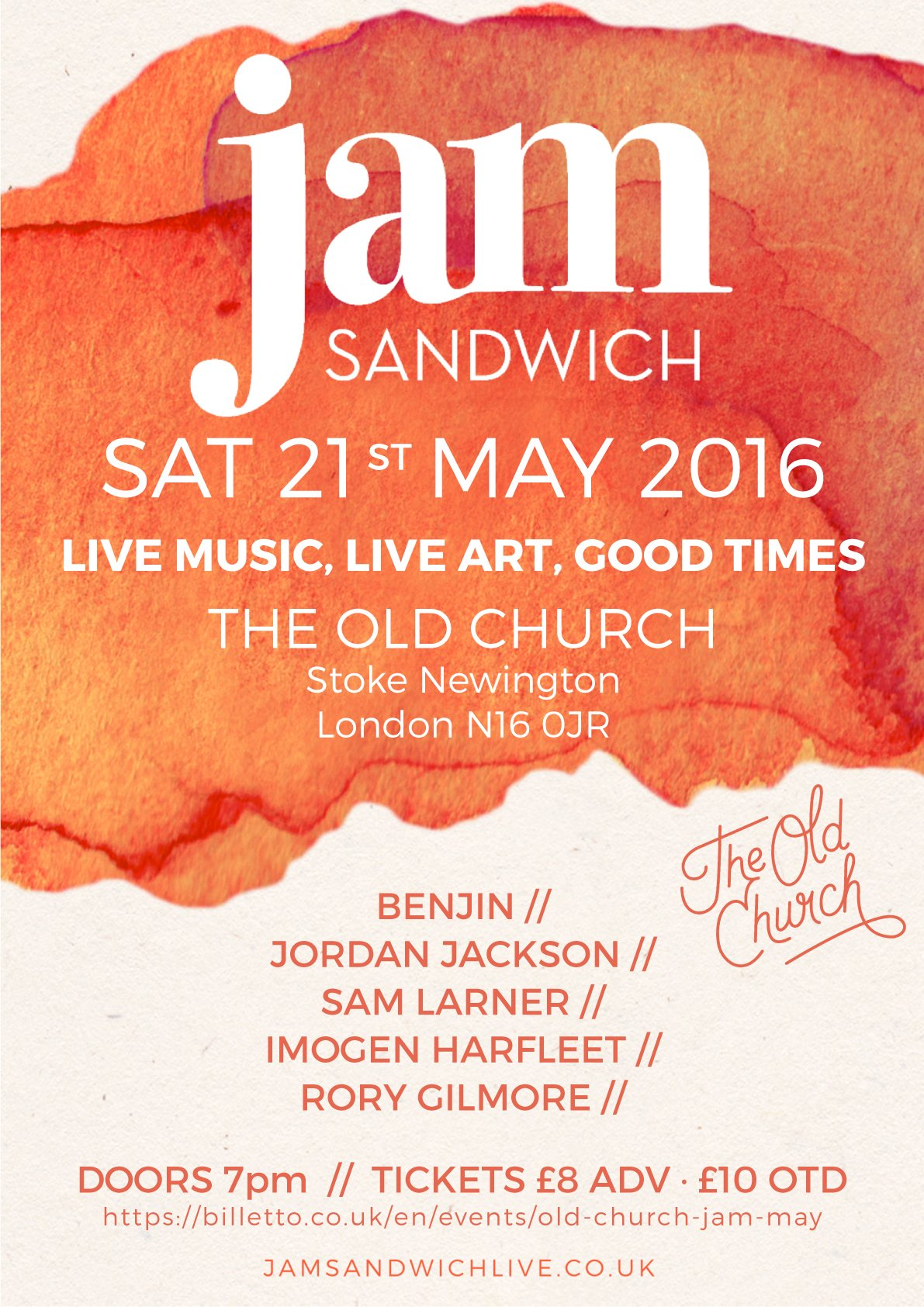 Jam-Sandwich-poster-OLD-CHURCH-MAy-2016