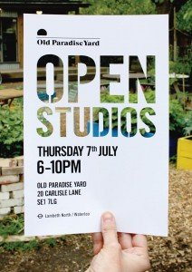 Old Paradise Yard Open Studios 7th July 2016