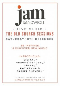 Old Church Sessions Saturday 10th December 2016 Live Music Stoke Newington | Jam Sandwich